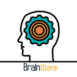 Brain storming design. Brain storming  design,  illustration eps10 graphic Royalty Free Stock Images