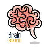 Brain storming design. Brain storming  design,  illustration eps10 graphic Royalty Free Stock Photos