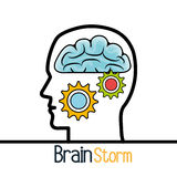 Brain storming design. Brain storming  design,  illustration eps10 graphic Stock Images
