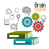 Brain storming design Royalty Free Stock Image