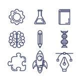 Brain storming set icons vector illustration
