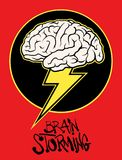 Brain storming sign vector illustration. 