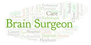 Brain Surgeon ordmoln stock illustrationer