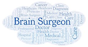 Brain Surgeon ordmoln royaltyfri illustrationer