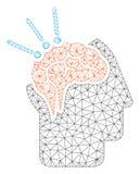 Brain Surgery Polygonal Frame Vector Mesh Illustration stock de ilustración