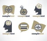 Brain symbols Stock Photography