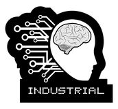 Brain tech Royalty Free Stock Photo
