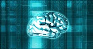 Brain Technology umano come un ciclaggio di concetto di scienza medica illustrazione vettoriale