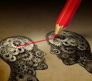 Brain Telepathy Communication stock illustrationer