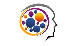 Brain Think Process. Logo Design Template Vector Stock Photo