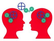 Brain Think Represents Consider Thinking et contemplent illustration stock