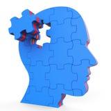 Brain Think Shows Thinking About y refleja Imagen de archivo libre de regalías