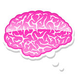 Brain in a thought bubble Stock Image