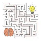 From brain to idea. Royalty Free Stock Photo