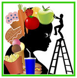Brain Training for healthy eating Royalty Free Stock Photos