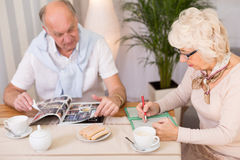 Brain training for seniors Royalty Free Stock Images