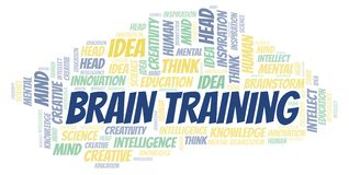Brain Training word cloud. Wordcloud made with text only royalty free illustration