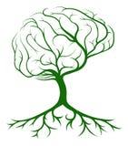 Brain Tree royaltyfri illustrationer