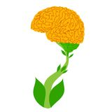 Brain Tree. Conceptual illustration of the growing brain blossoms royalty free illustration