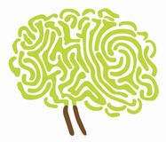 Brain tree illustration Royalty Free Stock Images