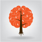 Brain tree illustration Royalty Free Stock Photography