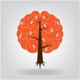 Brain tree illustration Royalty Free Stock Photography