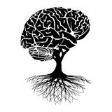 Brain tree illustration Royalty Free Stock Photos