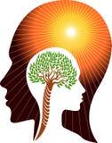 Brain Tree Logo fotografia stock libera da diritti