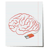 Brain with USB plug pen. Brain with USB port pen,Brain with USB plug pen,design for business ideas royalty free illustration