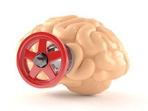 Brain with valve. Isolated on white background Royalty Free Stock Images