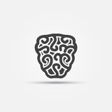 Brain vector icon Royalty Free Stock Photo
