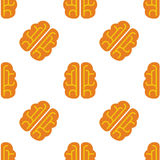 Brain vector icon seamless pattern Royalty Free Stock Photography