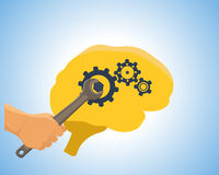 Brain vector illustration Royalty Free Stock Images