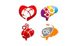 Brain Vector Template Set Photo libre de droits