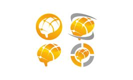 Brain Vector Template Set Images libres de droits