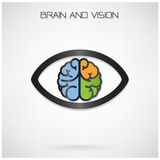 Brain and vision concept Royalty Free Stock Photography
