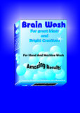 Brain Wash. Presentation for new washing powder, created in Coreldraw10 Stock Image