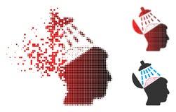 Brain Washing Icon tramé pointillé de désintégration illustration de vecteur