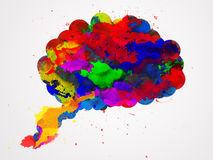 Brain watercolor Stock Photography