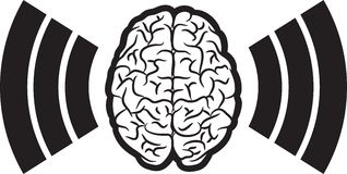 Brain with wave Stock Photography