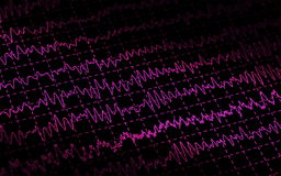 Brain wave EEG isolated on black background Stock Image