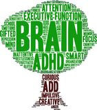 Brain Word Cloud illustration stock