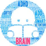 Brain Word Cloud illustration libre de droits