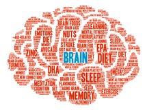 Brain Word Cloud Foto de archivo libre de regalías