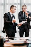 Brain work thinking team communicate business men Royalty Free Stock Photos