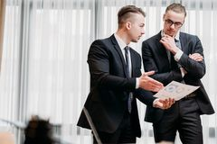 Brain work thinking team communicate business men Royalty Free Stock Photography