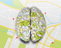 Mind Map Brain Top Royalty Free Stock Images