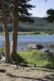 Brainard Lake in the Indian Peaks Wilderness of Colorado royalty free stock image