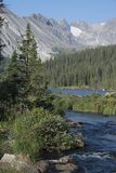 Brainard Lake in the Indian Peaks Wilderness of Colorado stock photography