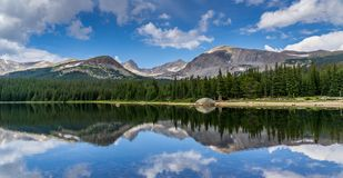 Brainard Lake in Ward Colorado. Brainard Lake Reflection in Indian Peaks Wilderness Ward Colorado stock image